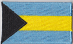 Bahamas Embroidered Flag Patch, style 04